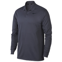 Nike Dri-Fit Victory Long Sleeve Polo - Men's - Navy / Navy