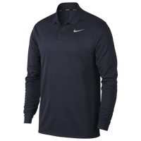 Nike Dri-Fit Victory Long Sleeve Polo - Men's - Navy