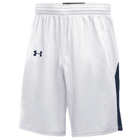 Under Armour Team Fury Shorts - Boys' Grade School - White / Navy