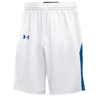 Under Armour Team Fury Shorts - Boys' Grade School - White / Blue