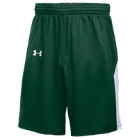 Under Armour Team Fury Shorts - Boys' Grade School - Dark Green / White