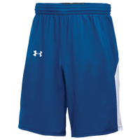 Under Armour Team Fury Shorts - Boys' Grade School - Blue / White