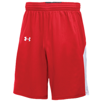 Under Armour Team Fury Shorts - Boys' Grade School - Red / White
