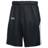 Under Armour Team Fury Shorts - Men's - Black / White