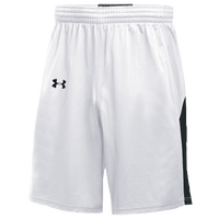 Under Armour Team Fury Shorts - Men's - White / Black