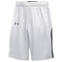 Under Armour Team Fury Shorts - Men's - White / Grey