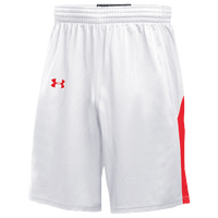 Under Armour Team Fury Shorts - Men's - White / Red