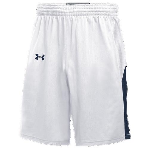 Under Armour Team Fury Shorts - Men's Basketball - White/Royal 12388104