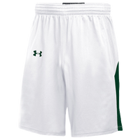 Under Armour Team Fury Shorts - Men's - White / Dark Green
