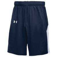 Under Armour Team Fury Shorts - Men's - Navy / White