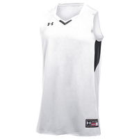 Under Armour Team Fury Jersey - Boys' Grade School - White / Black