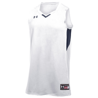 Under Armour Team Fury Jersey - Boys' Grade School - White / Navy