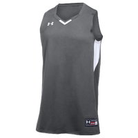 Under Armour Team Fury Jersey - Boys' Grade School - Grey / White