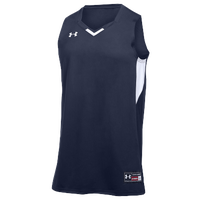 Under Armour Team Fury Jersey - Men's - Navy / White