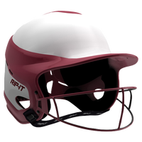 RIP-IT Vision Pro Helmet with Facemask - Women's - Maroon / White