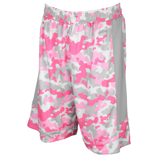 Eastbay Team Premier Elevate Shorts - Women's Basketball - Pink Camo/Grey/White 1248432
