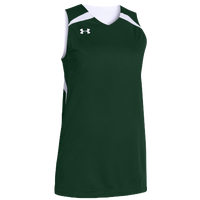 Under Armour Team Clutch Reversible Jersey - Women's - Dark Green / White