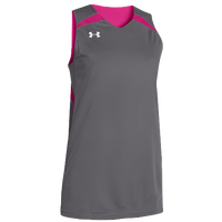 Under Armour Team Clutch Reversible Jersey - Women's - Grey / Pink