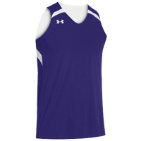 Under Armour Youth Team Clutch Reversible Jersey - Boys' Grade School - Purple / White