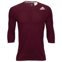 adidas Fielder's Choice 2.0 3/4 Baselayer Top - Men's - Maroon
