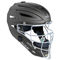 All Star System 7 MVP Catcher's Head Gear - All Black / Black