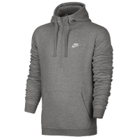 Nike Club Half Zip Fleece Hoodie - Men's - Grey / Grey