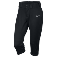 Nike Womens Softball Diamond Invader 3/4 Pants - Women's - Black / Black
