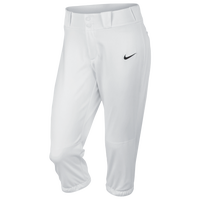 Nike Womens Softball Diamond Invader 3/4 Pants - Women's - White / White