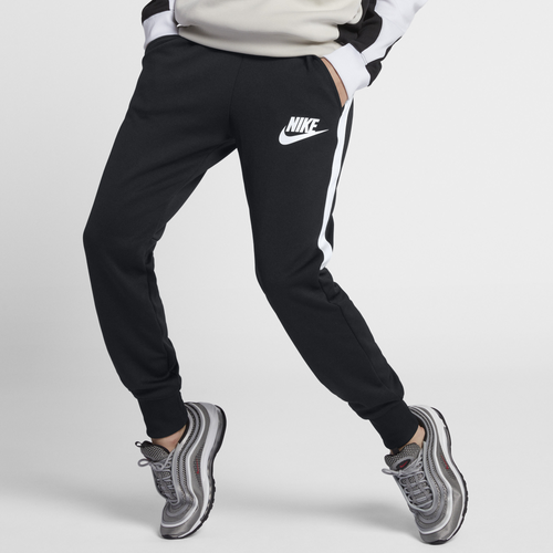 Nike NSW High Waisted Jogger - Women's Casual - Black/White 12877010