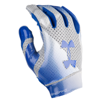 Under Armour Spotlight Pro Football Gloves - Men's - Blue / Silver