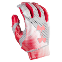 Under Armour Spotlight Pro Football Gloves - Men's - Red / Silver