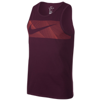 Nike Dri-FIT Cotton Tank - Men's - Maroon / Orange