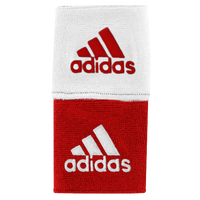 "adidas Interval 3"" Reversible Wristbands - Red / White"