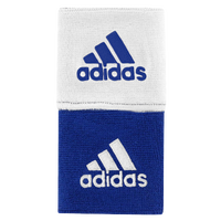 "adidas Interval 3"" Reversible Wristbands - Blue / White"