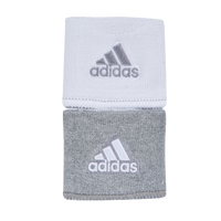 "adidas Interval 3"" Reversible Wristbands - Men's - Grey / White"