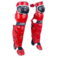 All Star System 7 Axis Leg Guard - Adult - Red / White