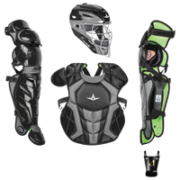 All Star System 7 Intermediate Catchers Kit - Grade School - Black