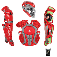 All Star System 7 Intermediate Catchers Kit - Grade School - Red