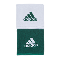 "adidas Interval 3"" Reversible Wristbands - Dark Green / White"