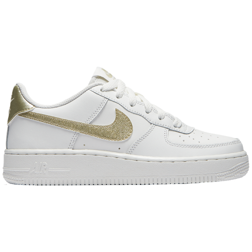 Nike Air Force 1 Low '06 - Girls' Grade School - Casual - Shoes - Summit  White/Met Gold Star/Summit White