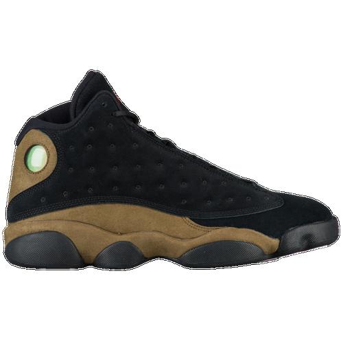 Jordan Retro 13 - Men's - Basketball - Shoes - Black/True Red/Light Olive