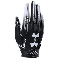 Under Armour PeeWee F6 Receiver Gloves - Boys' Preschool - Black / White