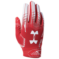 Under Armour PeeWee F6 Receiver Gloves - Boys' Preschool - Red / White