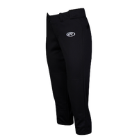 Rawlings Low Rise Fastpitch Pants - Women's - Black / Black