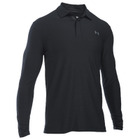 Under Armour Long Sleeve Golf Polo - Men's - All Black / Black