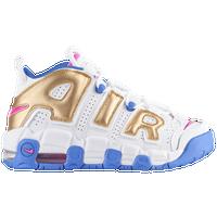 Nike Air More Uptempo Girls Grade School Basketball Shoes