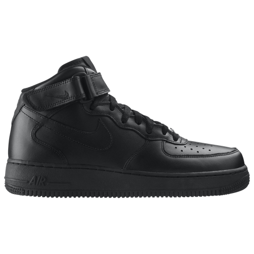 Nike Air Force 1 Mid - Men\u0027s - All Black / Black