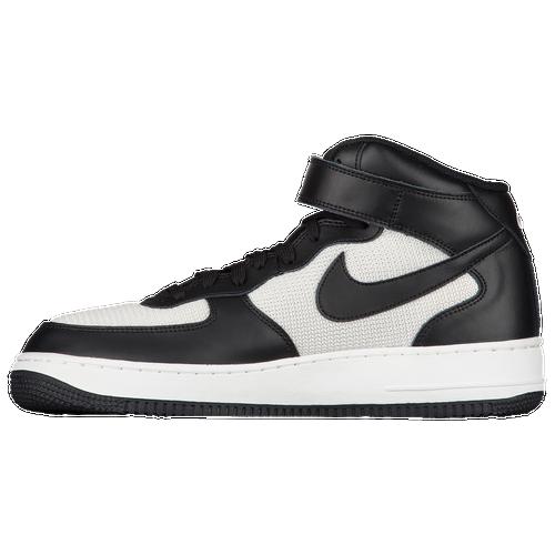 Nike Air Force 1 - Milieu Mens Blanc / Blanc / Noir
