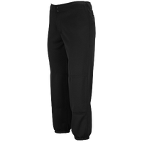 Mizuno Select Non-Belted Fastpitch Pants - Women's - All Black / Black