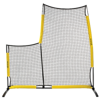 Easton Team Pop Up L Screen w/ Carry Bag - Black / Yellow